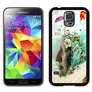 Beautiful Unique Designed Samsung Galaxy S5 I9600 G900a G900v G900p G900t G900w Phone Case With Meditation Abstract_Black Phone Case