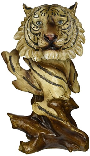 StealStreet SS-UG-PY-4798 Faux Wood White Tiger Collectible Decoration Design Animal Figurine