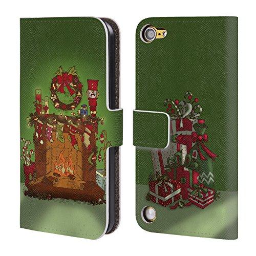 Head Case Designs Camino Christmas Essentials Cover a portafoglio in pelle per iPod Touch 5th Gen / 6th Gen