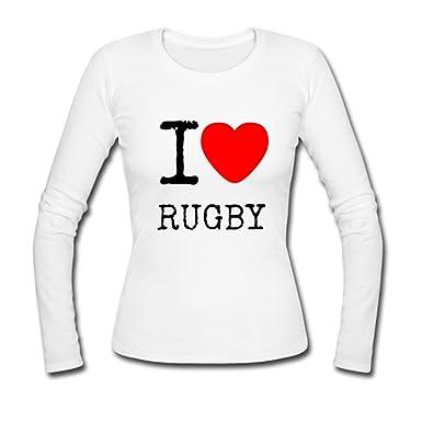 Amazon Com Dalink I Love Rugby Custom Gildan Long Sleeve Shirts