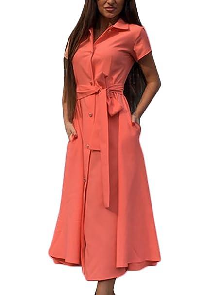 designer fashion 06593 c13f3 Donna Vestiti Lunghi Eleganti da Cerimonia Estivi Maniche ...