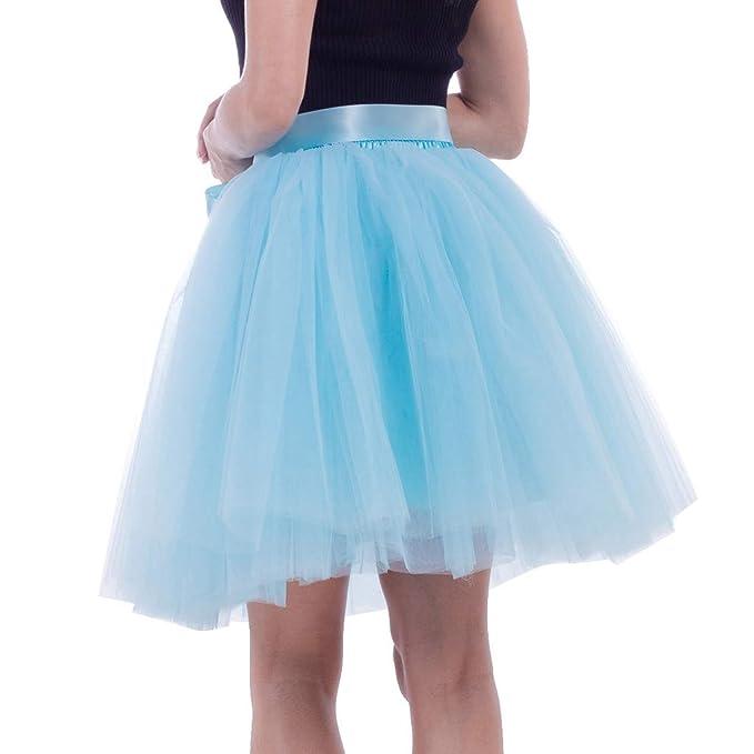 Doingshop-Dress - Falda - para Mujer Azul Azul Celeste Talla única ...