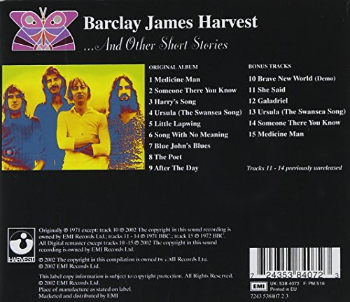 Image result for barclay james harvest and other short stories