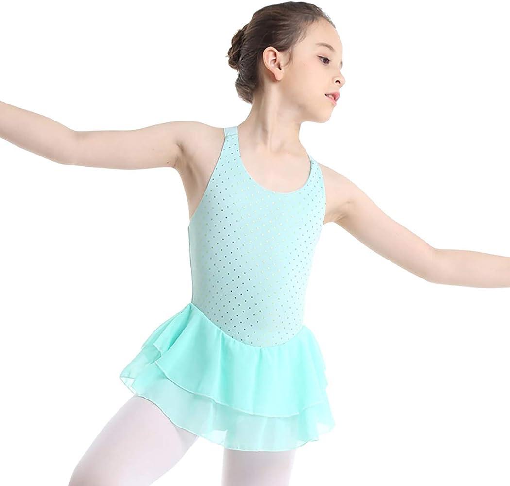 YiZYiF Vestido de Ballet Patinaje Artistico para Niñas Maillot con ...