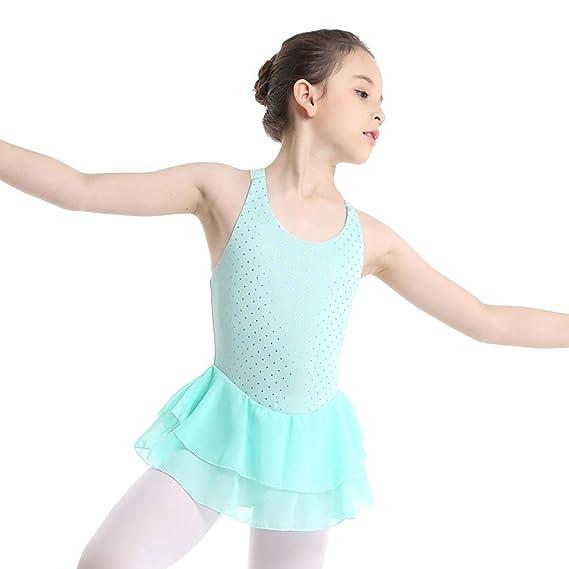 YiZYiF Vestido de Ballet Patinaje Artistico para Niñas ...