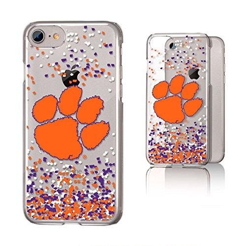 - Keyscaper KCLRI7-00CL-FETTI1 Clemson Tigers iPhone 8/7 Clear Case with CU Confetti Design
