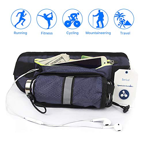 Seriud Water Bottle Waist Pack,Belt Running,Walking,Hiking Marathons, ()