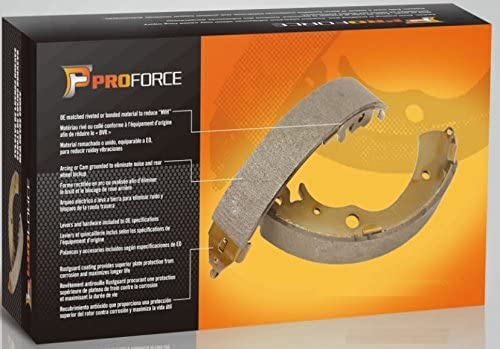 PROFORCE BS784 PREMIUM QUALITY DRUM Brake Shoes Set Both Left and Right with 2 Years Manufacturer Warranty