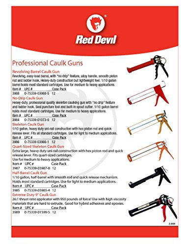Red Devil 3988 Revolving Barrel Caulk Gun