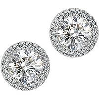 Stud Earrings Earrings for Girls Fashion Jewelry Cubic Zirconia Halo Earrings for Women
