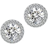earring types - Stud Earrings,Fashion Jewelry Cubic Zirconia Halo Earrings for Women