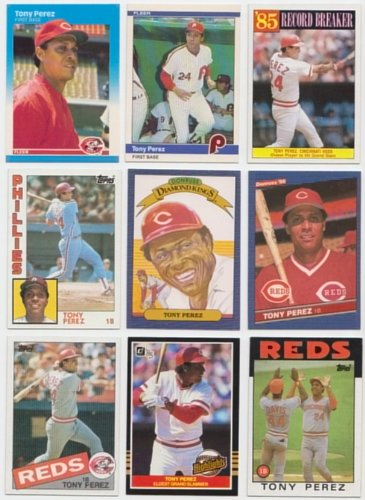Tony Perez / 20 Different Baseball Cards Featuring Tony Perez! No Duplicates (20 Different Trading Cards)