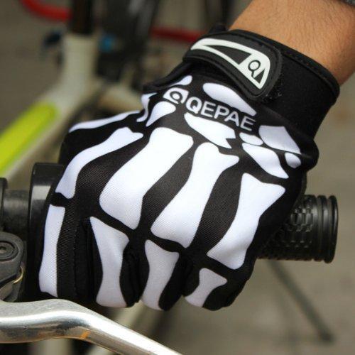 Bicycle Gloves Skeleton Pattern Full Finger Warm Bike Sports