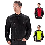 Viking Cycle Warlock Motorcycle Mesh Jacket (Black-L)