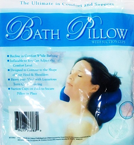 Bath pillow suction Colors vary