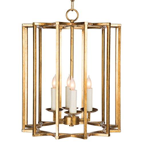 Hollywood Four Light Pendant (Starlight Hollywood Regency Gold Vertical Star Cage Pendant)