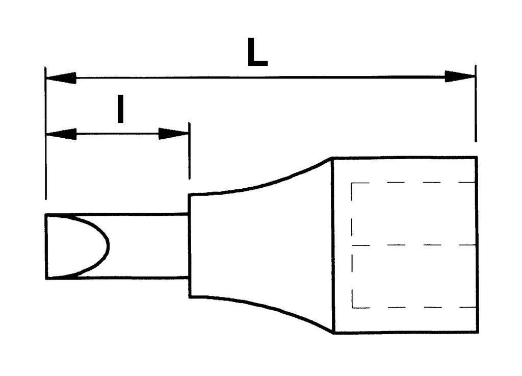 Noir SAM Outillage NSC-17 Douille tournevis 1//2 /à chocs longue 6 pans m/âle taille 17