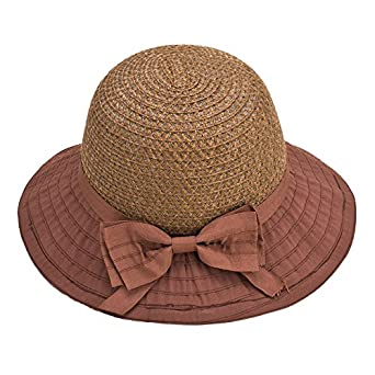 e6a8ce0fd6a Aabigale beautiful Women Sun Hats Classic Foldable Patchwork Wide Brim  Straw Hat New Nice Bow Summer
