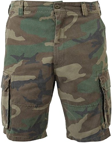 New Woodland Camo Military Vintage Army Paratrooper Shorts Cargo Shorts