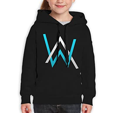 57133e4222938e Amazon.com: Katie P. Hunt Alan Walker Girls Funny Hoodies Black: Clothing