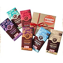 Equal Exchange Organic Chocolate Bar Collection (6 - 3.5 Oz Bars) 53 ONE BAR EACH OF: * ECUADOR 65% * ALMOND 55% * MILK 38% * MINT 67% * CARAMEL CRUNCH 55% * ORANGE 65% (ESPRESSO DISCONTINUED, SO IT IS BEING REPLACED WITH OR