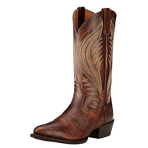 Ariat Menns Boomtown Western Cowboy Boot Brown