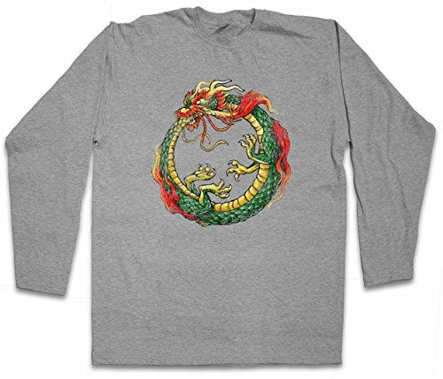 China Dragon T-shirt (Ouroboros Infinity Chinese Dragon Long Sleeve T-Shirt – China Uroboros Ancient Myths)
