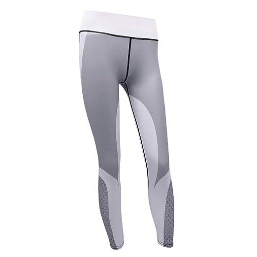 048495efc685f OSTELY Women's Yoga Pants Workout Running Tummy Control 3D Printed  Honeycomb Yoga Pants