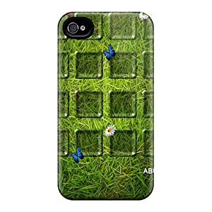 Fashion Tpu Case For Iphone 4/4s- Grass Defender Case Cover
