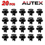 1998 accord fender - PartsSquare 20pcs Nylon Bumper Fender Liner Fastener Rivet Car Retainer Clips Plastic Fastener Kits Push Clips Retainer Fastener Clamps Replacement For Acura Honda