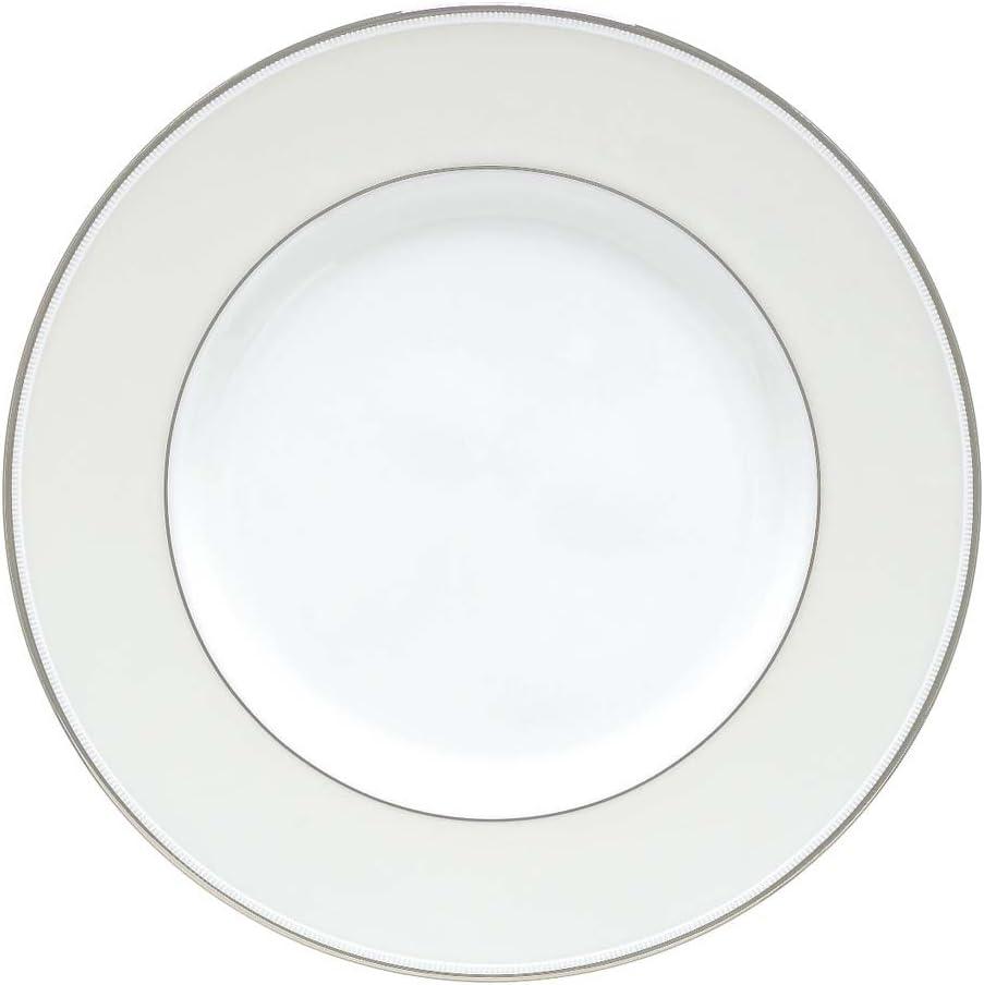 Lenox Opal Innocence Stripe Accent Plate, 1.15 LB, White