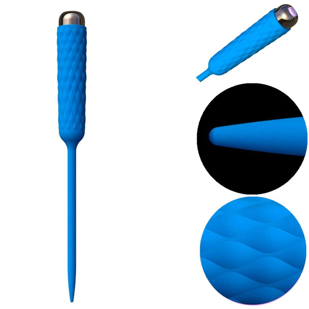Vibrador Uretral Dilatador Uretral De Silicona Enchufe Velocidad Uretral Estimulante Uretral Masajeador Masculino 3 Velocidad Enchufe 7 Frecuencia Vibrador, Grado IPX7 Impermeable d11924