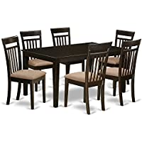 East West Furniture CAP7S-CAP-C 7-Piece Formal Dining Table Set