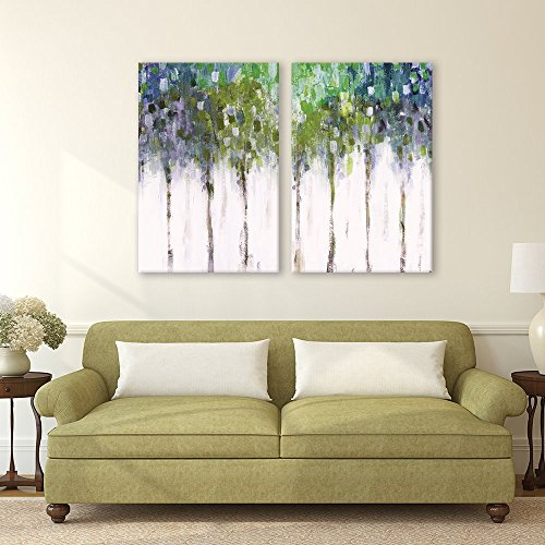 2 Piece Abstract Trees x2 Panels
