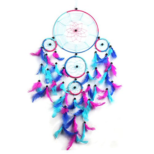 Malicosmile Large Dream Catcher for Girls, Colorful Feather Dream Catchers for Girl Room Bedroom Wall Decorations