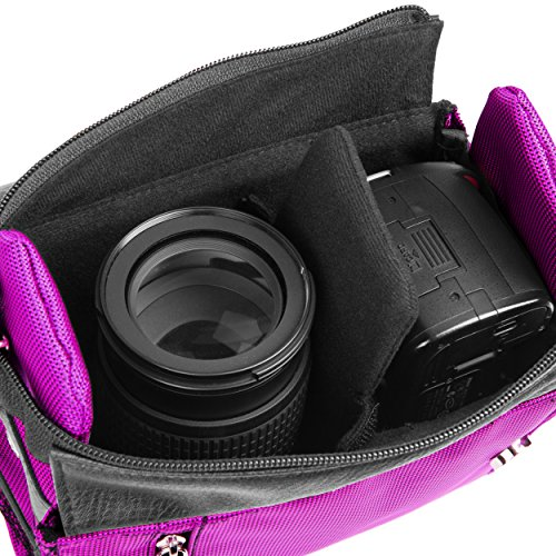 Sony shot VIdeo Camcorder Camera Case HD Recording Accessory Handycam Purple Alpha Shoulder Bag Cbyer Xw8H7Htq