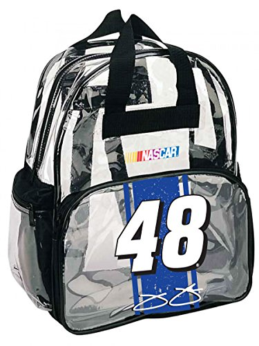 NASCAR #48 Jimmie Johnson Clear Backpack-NASCAR Backpack-NEW for 2016! (Jimmie Johnson Bag)