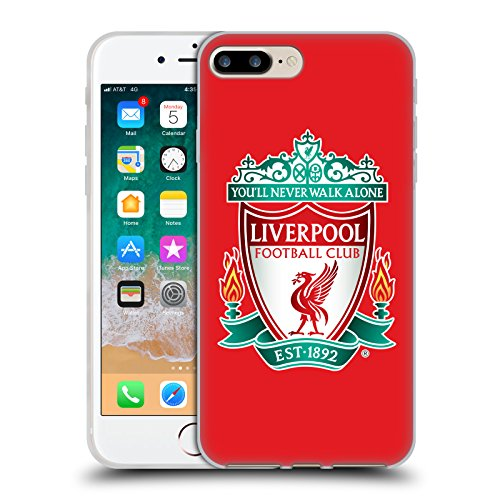 Official Liverpool Football Club Red 1 Crest 1 Soft Gel Case for iPhone 7 Plus/iPhone 8 -