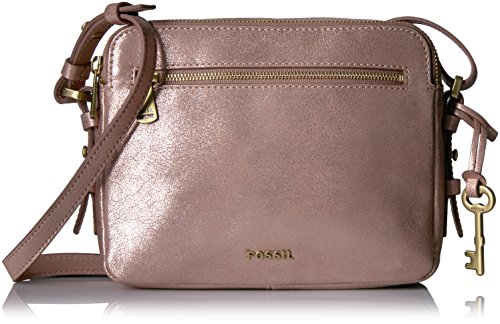 Fossil Piper Toaster Crossbody,Rose Gold-Tone,One Size (Fossil Handbag Leather)