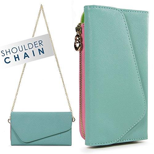 Ombre Wristlet Wallet Phone Case Women, Clutch Wrist Strap Card Slots Cash Pocket Crossbody Shoulder Bag