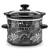 Olla de cocción lenta de 2 cuartos, olla de cocimiento lento 1.9 litros La Guerra de las Galaxias, Negro, 1.9 litros, 1, 1