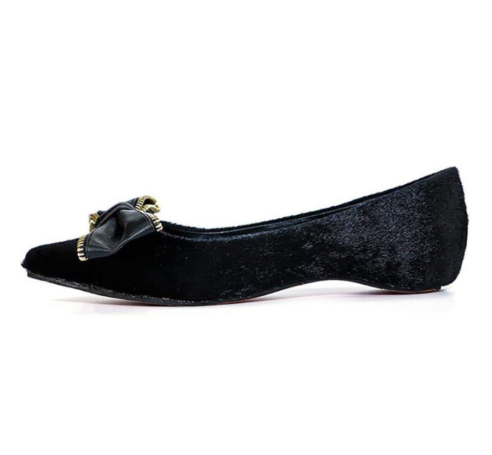 US5.5 // EU36 // UK3.5 // CN35 7 Oudan Ladies Flats Shoes Summer Casual Butterfly Knot Fashion Popular Shoes B //CN37 //EU37//UK4.5 Color : B, Size : US6.5 5