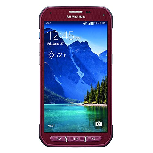 Samsung Galaxy S5 Active 4G LTE G870A 16GB Factory Unlocked Extremely Durable Rugged Smartphone, Ruby Red (Certified Refurbished)