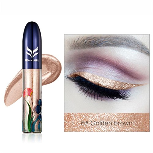 Liquid Eyeliner Pen KingWo HUAMIANLI Women Waterproof Beauty Makeup Cosmetic Black Liquid Eyeliner Pen Beauty (F)