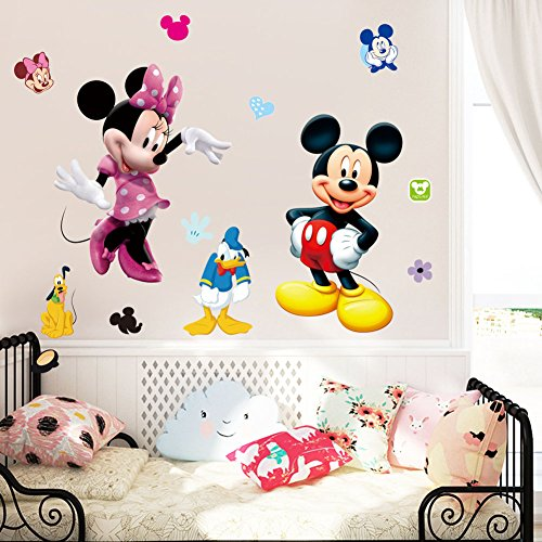 FangeplusTM-DIY-Removable-Disney-Mickey-and-Minnie-Mouse-Art-Mural-Vinyl-Waterproof-Wall-Stickers-Kids-Room-Decor-Nursery-Decal-Sticker-Wallpaper-354x236