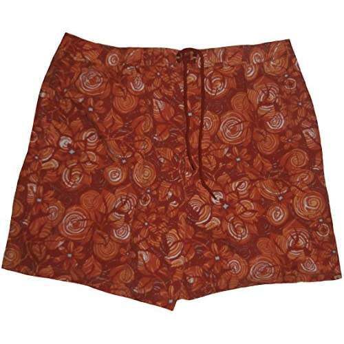 c9c9322aa2 chic Roundtree & Yorke Caribbean Mens Swim Trunks X-Large Vint Red Floral