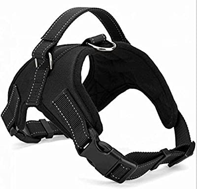 No Pull Dog Harness Multipurpose & Adjustable, No Pull Dog Harness or Collar, Service Vest, Dog Body Padded Vest, Dog Walking Harness (Large - Red)