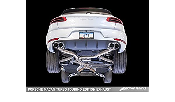 AWE Tuning 3015 - 43072 Porsche Macan Touring Edition sistema de escape (diamante negro 102 mm puntas): Amazon.es: Coche y moto