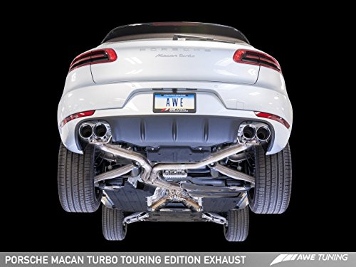 (AWE Tuning 3015-43072 Porsche Macan Touring Edition Exhaust System (Diamond Black 102mm Tips))