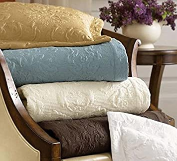 Elegant Sferra Harrison F/Queen Quilt 3 Piece Set Gold Coverlet U0026 2 Shams Cotton  Sateen